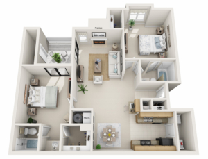 two-bedroom-apartment-fireplace-furnished