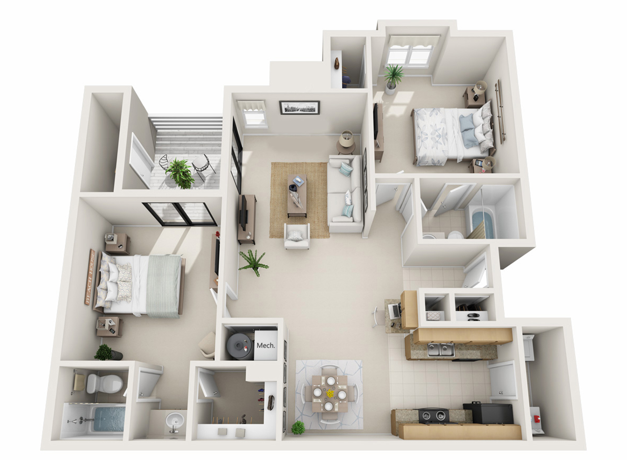 two-bedroom-apartment-furnished
